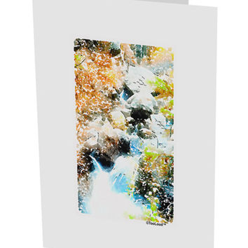 "Rockies Waterfall Watercolor 10 Pack of 5x7"" Side Fold Blank Greeting Cards"