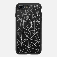 iPhone 7 Plus Case (New Black), Abstraction Outline White iPhone 7 Case by Project M | Casetify (iPhone 6s 6 Plus SE 5s 5c & more)