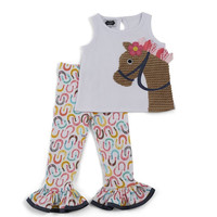 MUD PIE HORSE TUNIC AND LEGGING BABY AND TODDLER GIRLS 9-12M