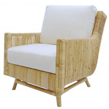 Alessia Lounge Chair, Natural