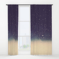 Star drops Window Curtains by Printapix