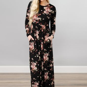 Fall Floral Maxi with Pockets