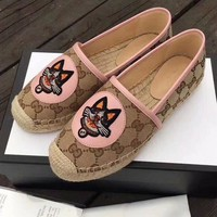 Gucci Fisherman shoes High quality Puppy Print Shoes Pink