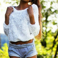 Flower Long Sleeve T-shirt CX109DG