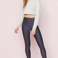 High Waist Shiny Legging