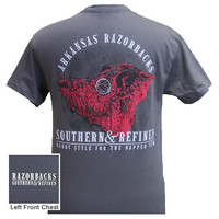 Arkansas Razorbacks Hogs Southern & Refined Bright T Shirt
