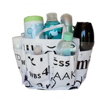 100% Recycled Instant Message Print Shower Tote By: Great Useful Stuff