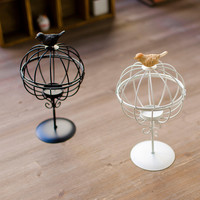 Home Decor Decoration Iron Cage Lights Candle Stand [4918506564]