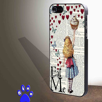 Alice in Wonderland Madhatter Chershire Cat for iphone 4/4s/5/5s/5c/6/6+, Samsung S3/S4/S5/S6, iPad 2/3/4/Air/Mini, iPod 4/5, Samsung Note 3/4 Case **