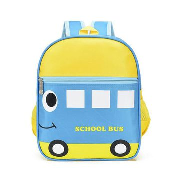 Polyester Car Ladybug Frog Pattern Cute Kids School Bags Baby Toddler Book Bag Kindergarten Rucksacks