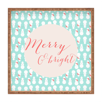 Allyson Johnson Merry And Bright Square Tray