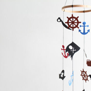 Pirate Mobile Jake and the Neverland Pirates Baby Boy Decor Nursery Nautical