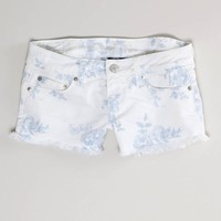 AE Floral Denim Shortie - American Eagle Outfitters