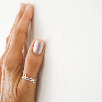 Sterling Silver Ring//Adjustable Ring//Thumb Rings//Hammered Ring//Handmade Jewelry//Women Ring