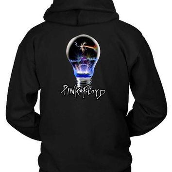 CREYH9S Pink Floyd Light Lamp Hoodie Two Sided