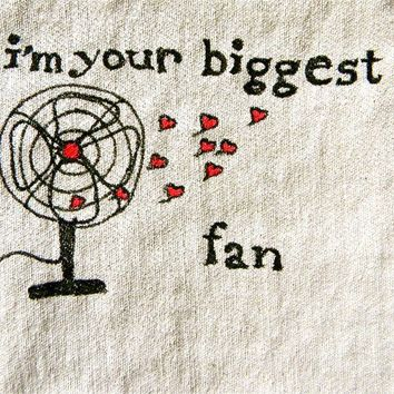 pillow door hanging vintage fan drawing with hearts by pillowhappy