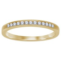14K Yellow Gold .17 cttw Channel-Set Diamond Ladies' Wedding Band