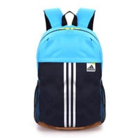 """Adidas"" Casual Sport Laptop Bag Shoulder School Bag Backpack Spell blue"