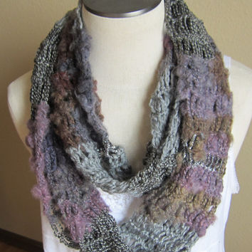 Crochet Cowl,Infinity Scarf,Hooded Scarf made with Red Heart Boutique Magical Yarn in Hocus Pocus Beautiful Colors