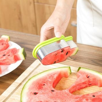 Multifunctional Watermelon Slicer Fruit Cutter Cookie Mold Kitchen Chopper DIY Tools Vegetable Fruit Slicers