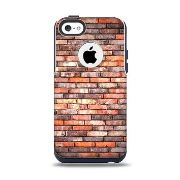 The Multicolor Highlighted Brick Wall Apple iPhone 5c Otterbox Commuter Case Skin Set