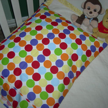 Multi-Colored Polka Dot Toddler Pillowcases (Fits 16x20 pillow)