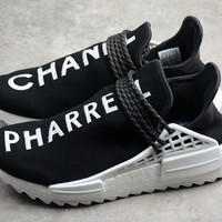 Adidas NMD Human Race Pharrell Williams Sports Shoes Black/White