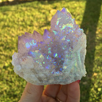 Spirit Quartz Angel Aura Cactus Quartz Fairy Castle, Quartz Crystal, Healing, Metaphysical, Rainbow Opal Aura Love, SQA2-0703