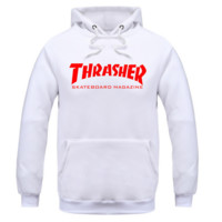 THRASHER Black print red Flame hooded Sweater  Men and Women's Clothes three color