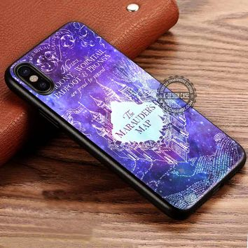 Marauders Map Nebula Galaxy Art Harry Potter iPhone X 8 7 Plus 6s Cases Samsung Galaxy S8 Plus S7 edge NOTE 8 Covers #iphoneX #SamsungS8