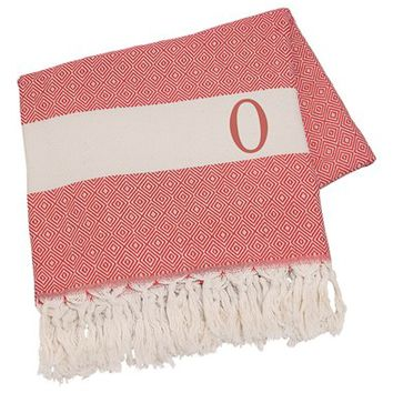 Cathy's Concepts Personalized Turkish Cotton Throw - Red