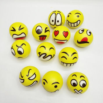 1PCS Funny Smiley Face Anti Stress Reliever Ball For Kids Autism Mood