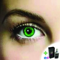 Mesmereyez Emerald Green Coloured Contacts (Comfort) (Kit)