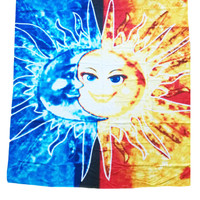 Sun Moon Print Square Beach Towel