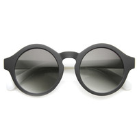 Large Retro Mirrored Lens Round P3 Sunglasses 9807