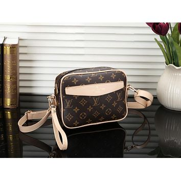 Louis Vuitton LV Fashion New Monogram Print Leather Shoulder Bag Crossbody Women
