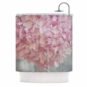 "Suzanne Harford ""Pastel Pink Hydrangea Flowers"" Pink Floral Shower Curtain"