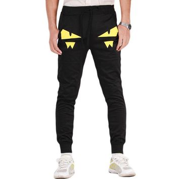Pantalones Hombre Casual Men's Joggers Black s Trousers Print Cotton Men Harem Pants Joggings HO855202