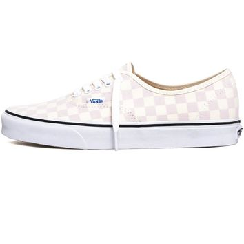 Checkerboard Authentic Sneakers Chalk Pink