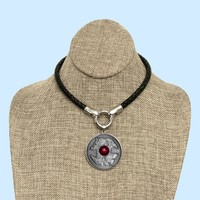 Wolf and Rave Coin on Multipurpose Leather Necklace with All Stainless Steel Connectors