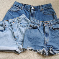 High waisted vintage shorts