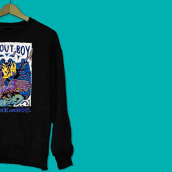 Fall Out Boy FOB Save Rock and Roll Sweater High Quality Graphic - rock - band - music - concert - gift