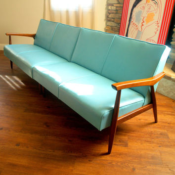50s Vintage Danish Modern Sectional Sofa From Aces Finds