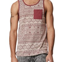 On The Byas Matt Skinny Jacquard Tank Top - Mens Tee - Brown