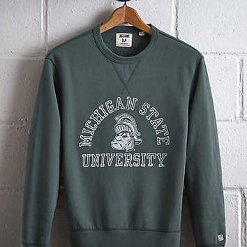 Tailgate Michigan State Crew Sweatshirt, Green