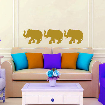 Wall Decals  Animals Elephant Indian Elephants Buddha Yoga Ganesh Vinyl Decal Sticker Home Decor Bedroom Living Room Nursery Murals ML138
