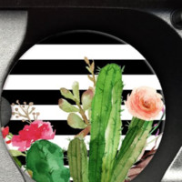 Cactus Stripe Car Coaster