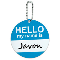 Javon Hello My Name Is Round ID Card Luggage Tag