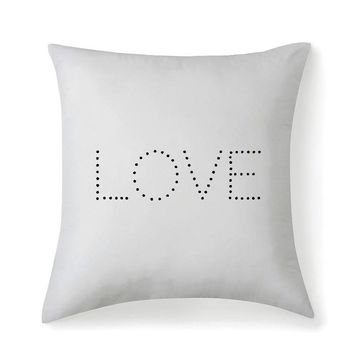 Love Microfiber Square Pillow Cover
