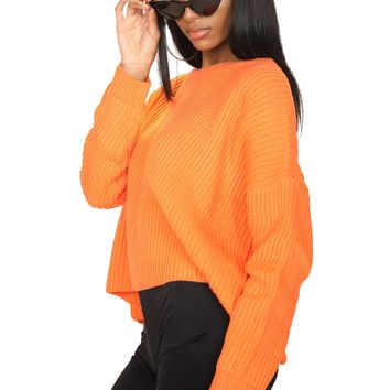 Fanta Oversized Knit Sweater Top